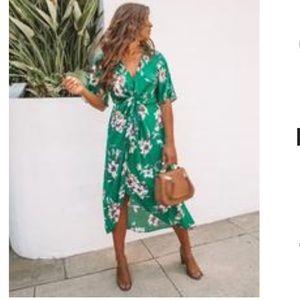 Vici Glenda green dress